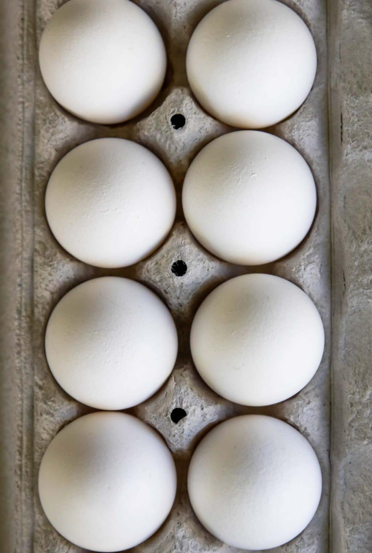 Hard Boiled Eggs in an egg carton