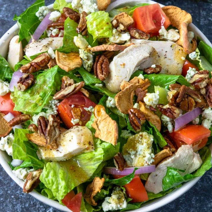 Close up of the fuji apple chicken salad