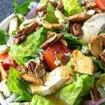 Apple Pecan Chicken Salad image with pinterest text