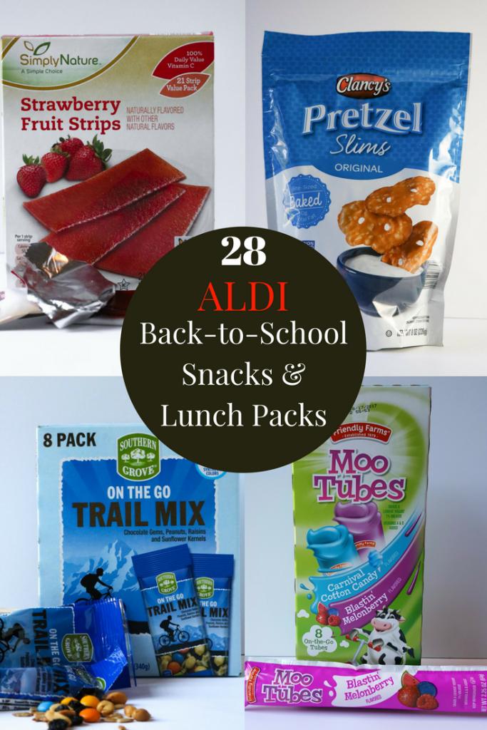 ALDI Back-to-School Snacks & Lunch Packs | Mom's Dinner