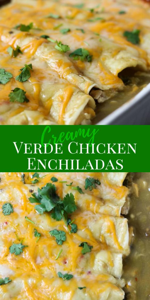 Verde Chicken Enchiladas Pin Image