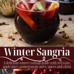 winter sangria pin image with text