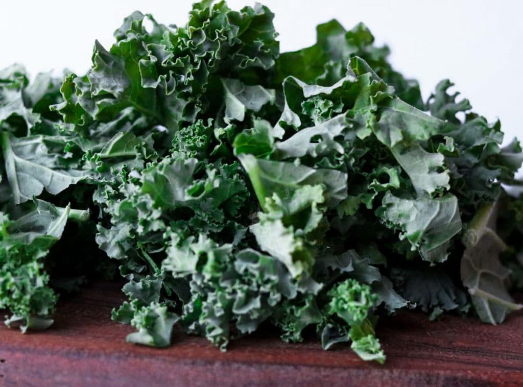 A pile of green kale