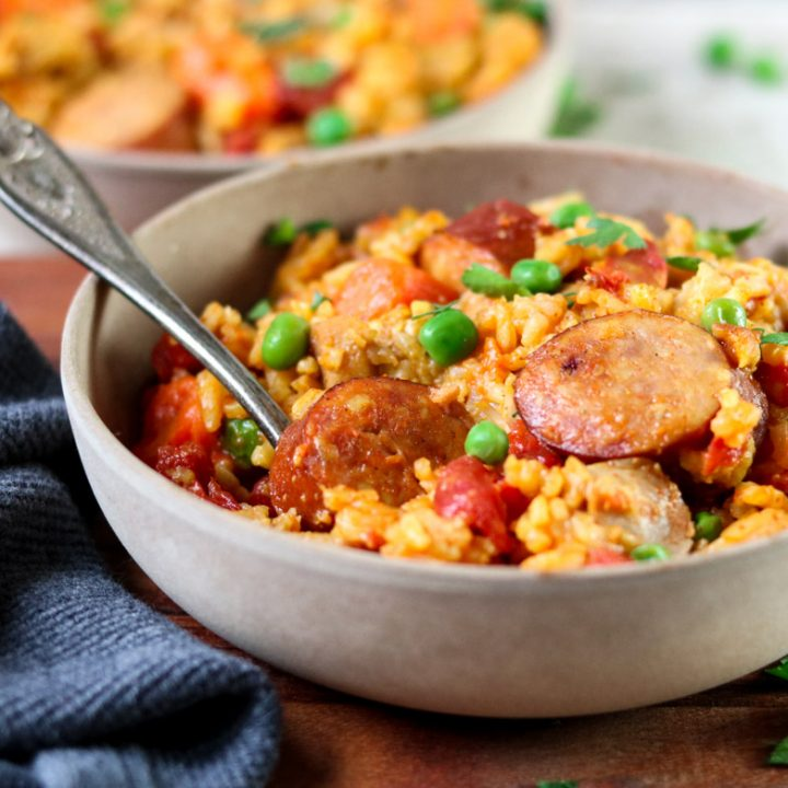 Instant Pot Cajun Rice with Chicken and Sausages