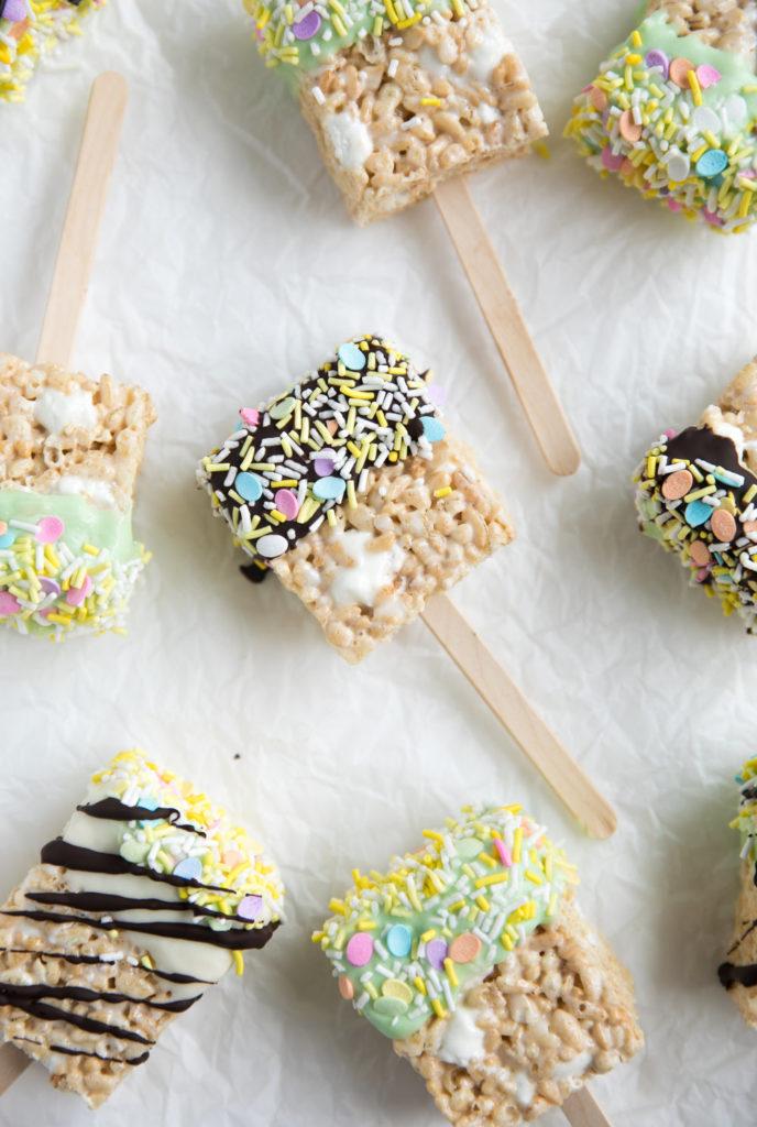 Easter rice krispy treats