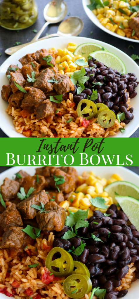 Instant Pot Steak Burrito Bowl Pinterest Image