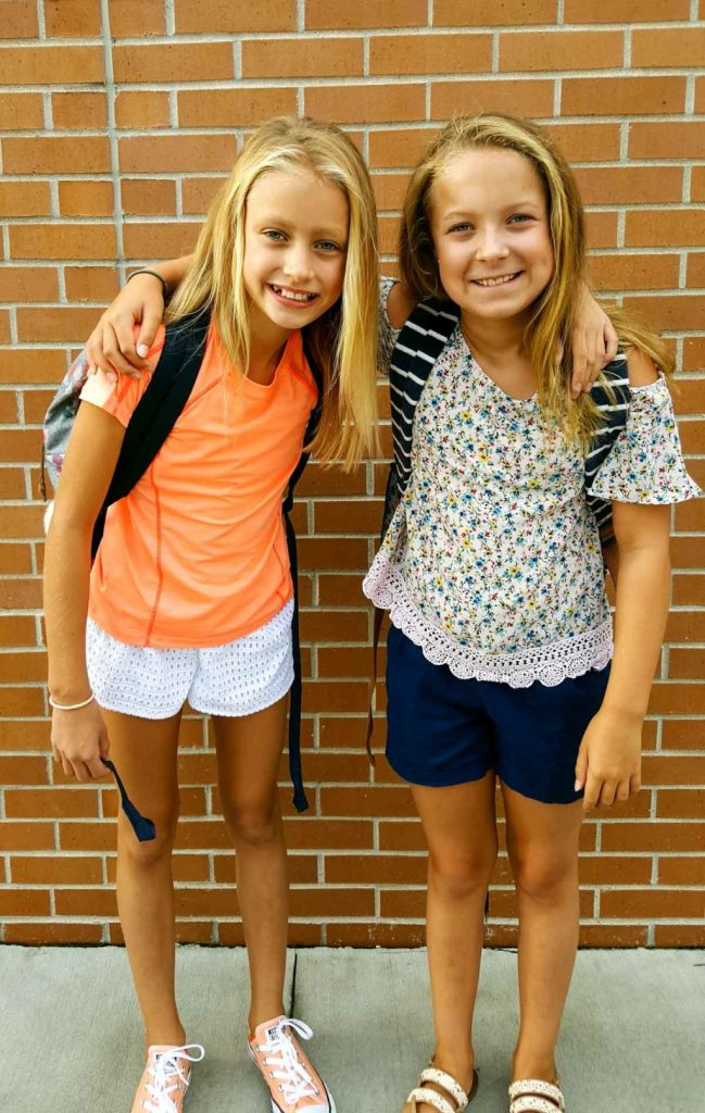Maddie and Paige at school (1 of 1)
