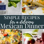 Simple Recipes for a Mexican dinner pinterest image