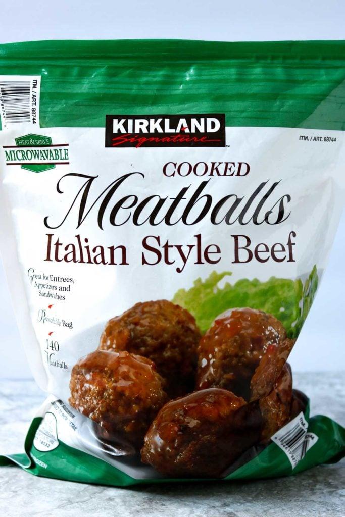 Kirkland cooked Meatballs Italian Style Beef from Costco