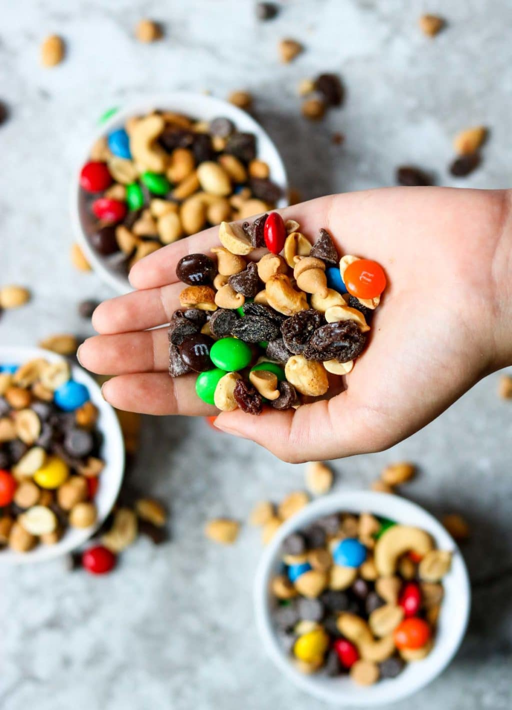 A handful of Monster Trail Mix