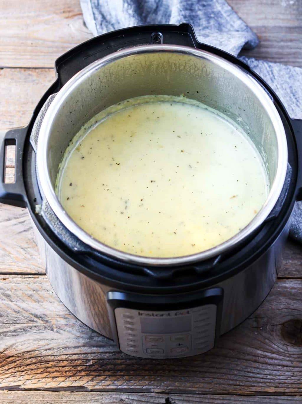 Instant Pot with Potato Soup