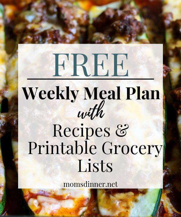 Free meal plan pin image