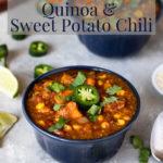 Instant Pot Quinoa Sweet Potato Chili Pinterest Image