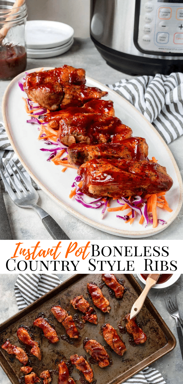 Instant Pot Boneless Country Style Ribs pinterest image