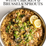 One Pan Lemon orzo with chicken pinterest image