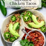 Instant Pot Shredded Chicken Taco with pinterest text