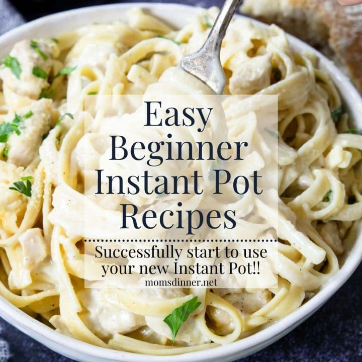 easy instant pot recipes for beginners with a bowl of pasta