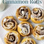 crescent cinnamon roll pinterest image with text