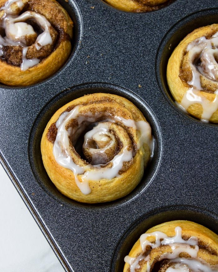 crescent cinnamon roll with frosting