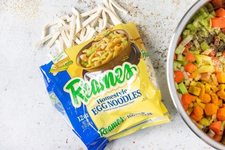 Frozen Reames egg noodles