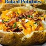 Instant Pot Baked Potato stuffed with cheese and bacon