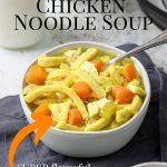 Instant Pot Chicken Noodle Soup Pin Image