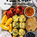 breakfast board with egg cups - pinterest text