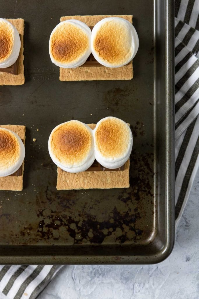 marshmallows browned in the oven