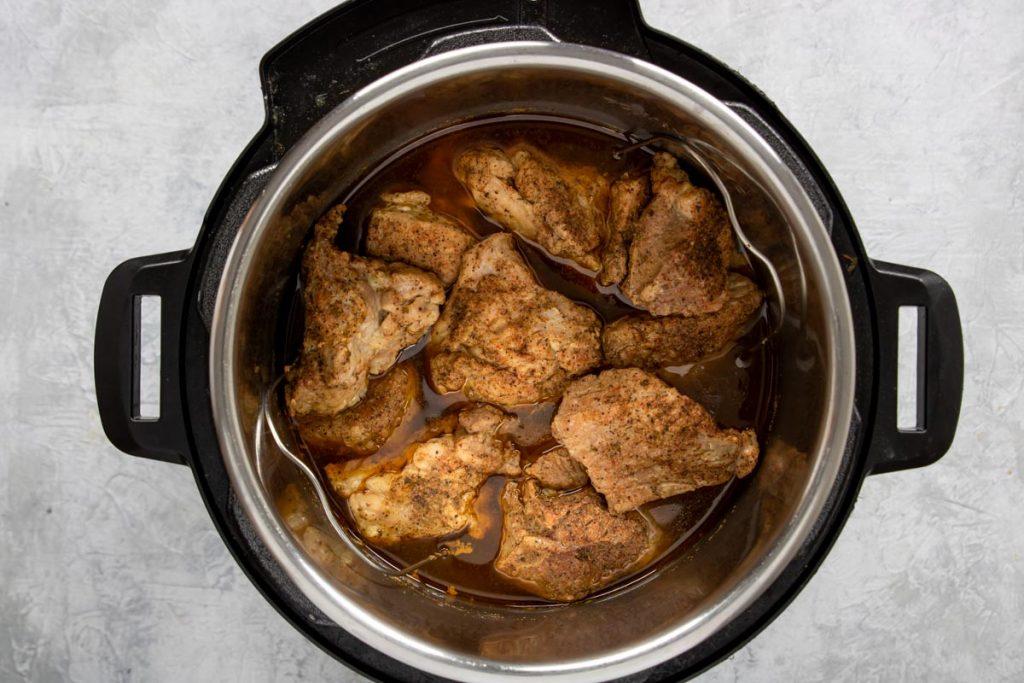 cooked pork shoulder in the instant pot