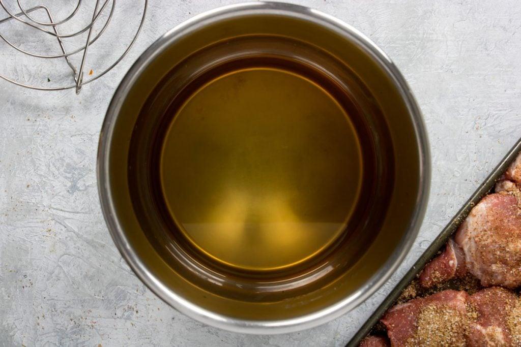 cooking liquid in instant pot