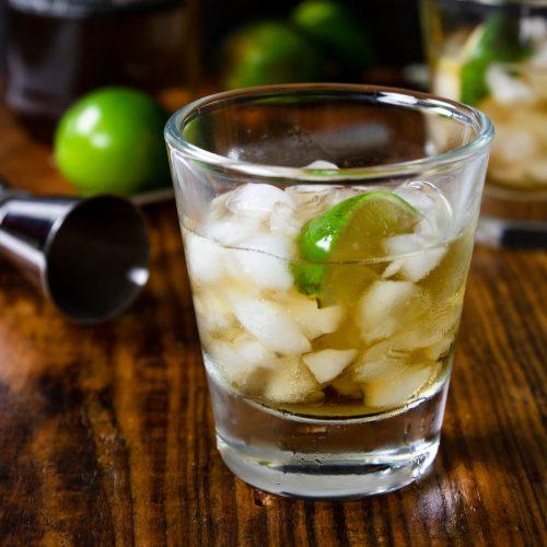 Añejo Tequila on the Rocks