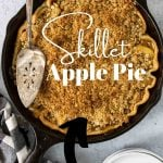 apple pie recipe pin image with text