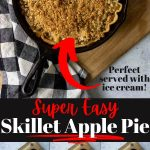 easy Iron SKillet pie pin image with text