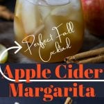 Apple Cider Margarita Pin image with text