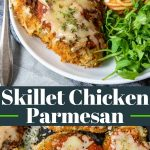 Skillet Chicken Parmesan recipe pinterest image