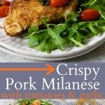 pork milanese recipe pinterest image