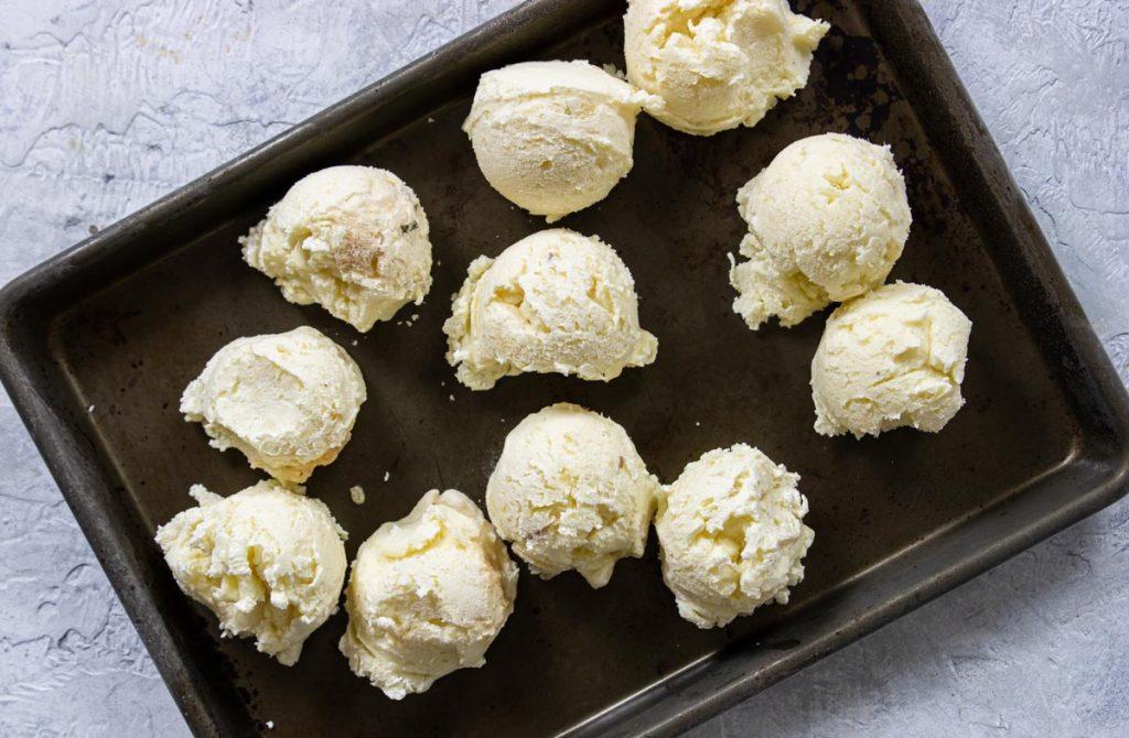 mashed Potatoes frozen in pucks