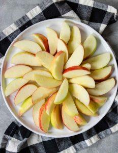 apples layered in a pinwheel pattern