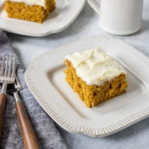 Pumpkin Bar on a plate with forks to the side