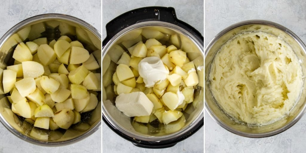 steps for making the best instant pot mashed potatoes
