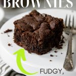 pinterest image with text for cake mix brownies