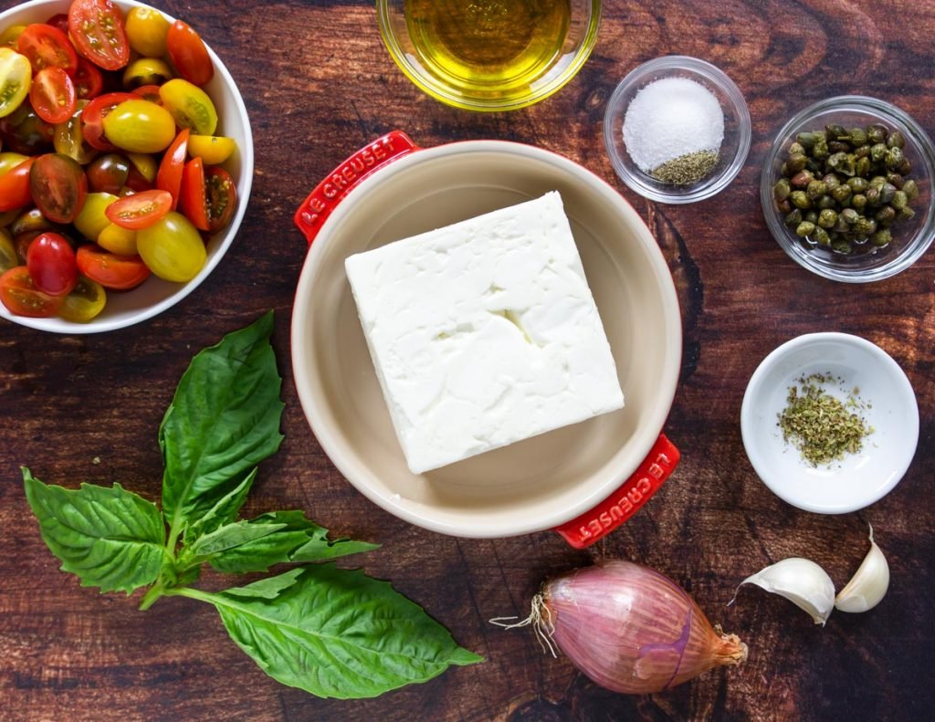 ingredients for baked feta