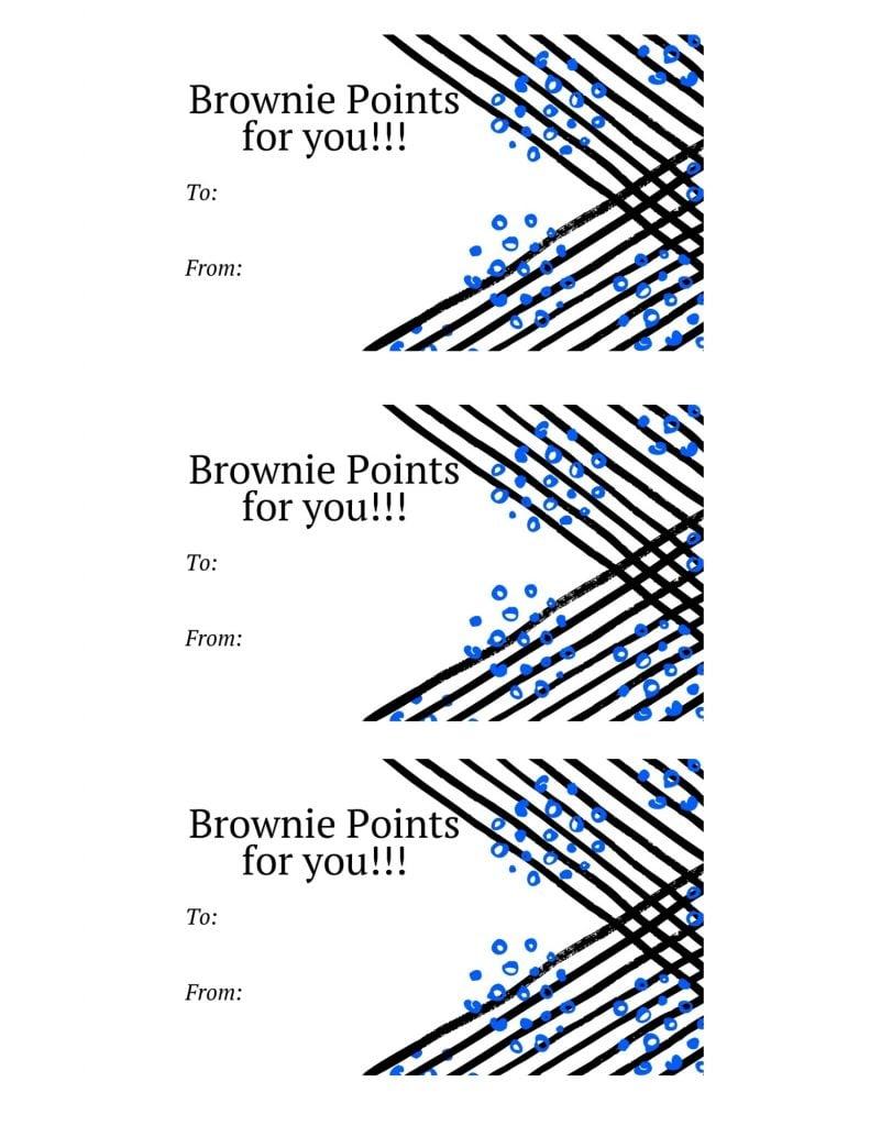 Brownie Points printable gift tag