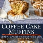 coffee cake muffin pinterest image with text