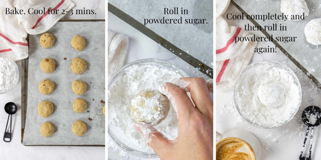 step by step photos of how to make snowball cookies