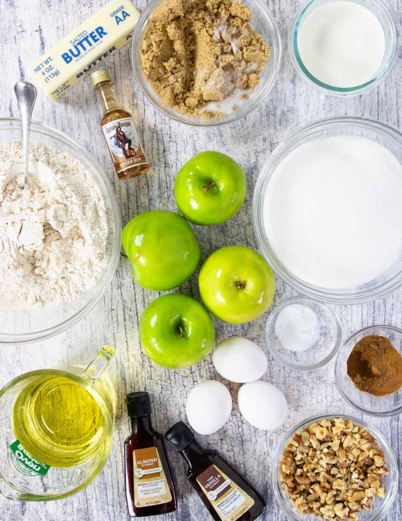 ingredients for apple spice cake