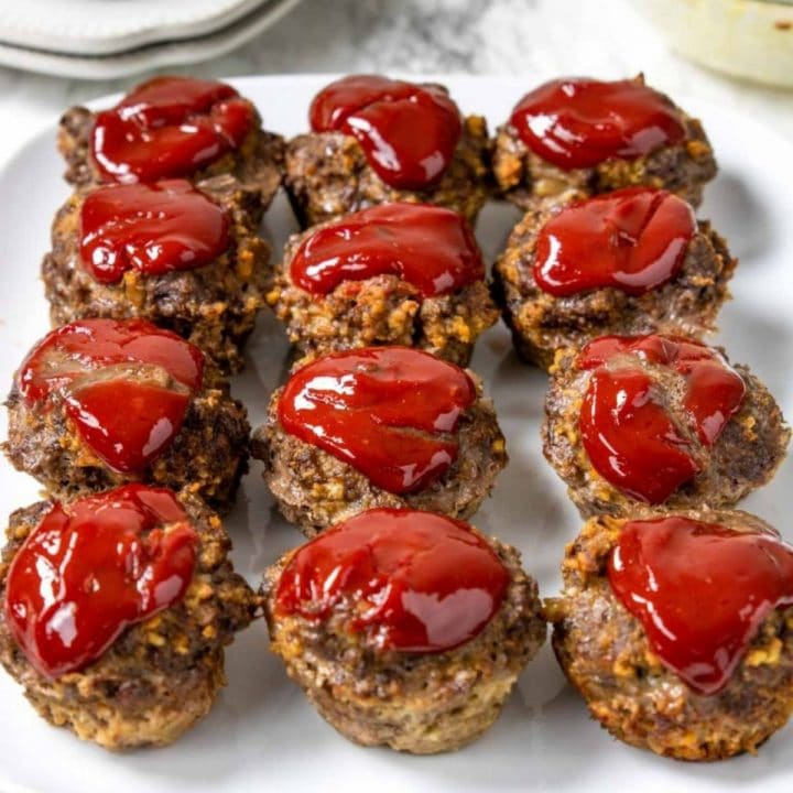 meatloaf muffin cup on a plate