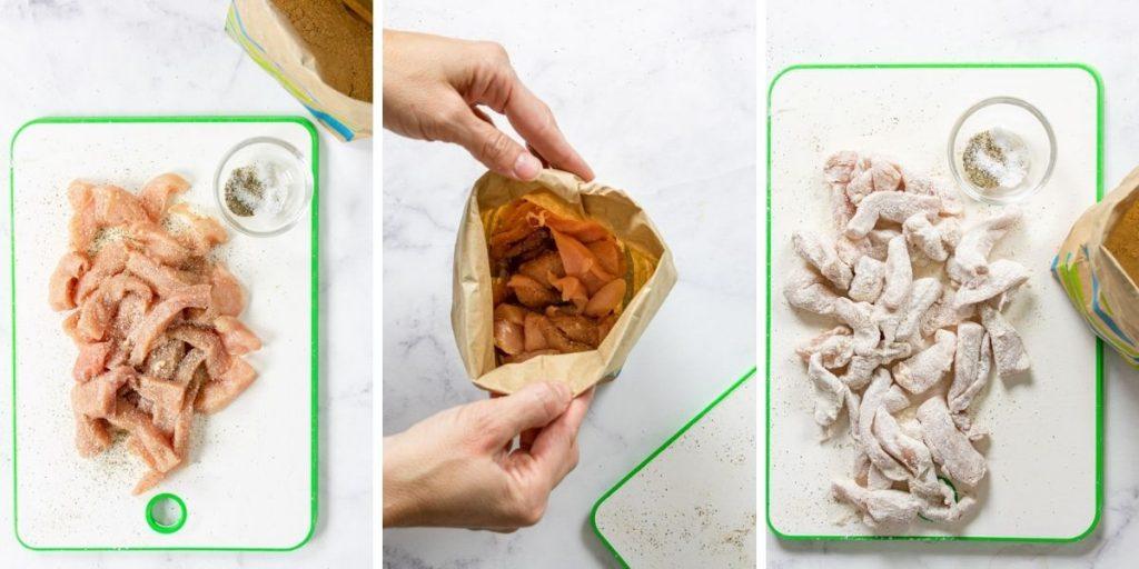 how to prep chicken for fettuccine alfredo