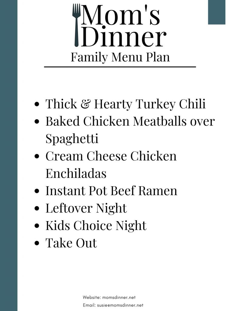 printable meal plan 18