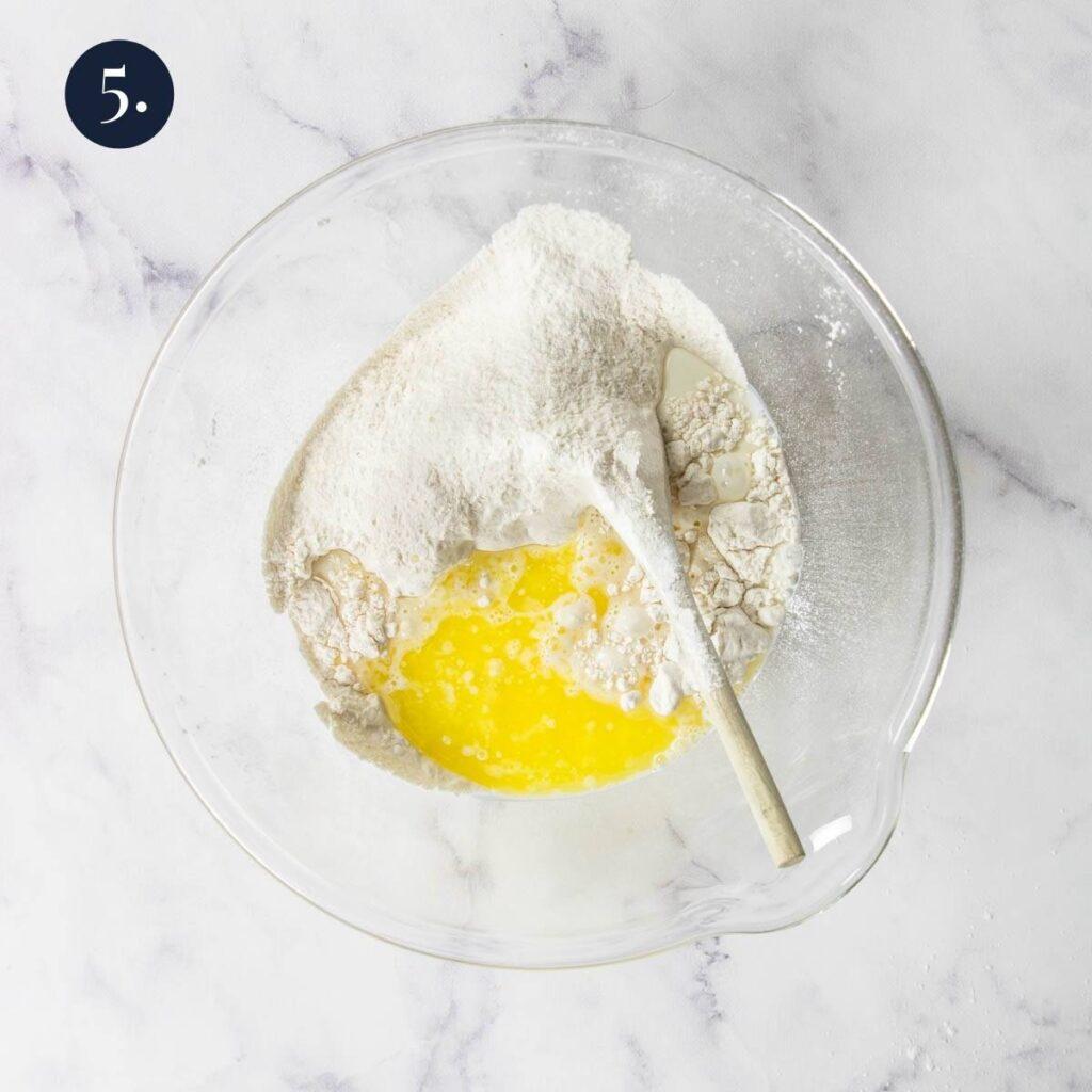 dumpling ingredients in a bowl